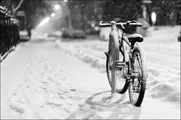 Bike in-Snow ©TopLeftPixel.com