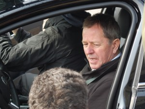 """""""So what does the pedal on the right do, again?"""" Martin Brundle is one of the finest racing drivers on earth - maybe the only thing he does better is present programmes about it. ©Paul Harris / Cycling Shorts"""