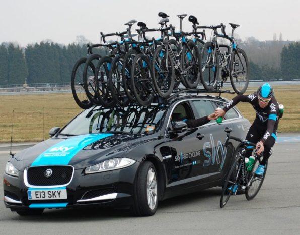 CJ takes another - Bidon practice - Image ©Paul Harris / Cycling Shorts