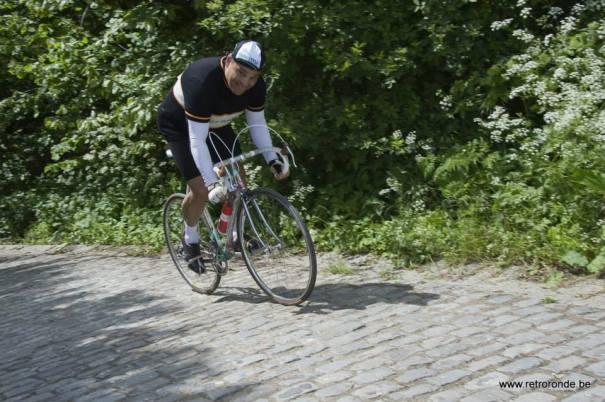 Here I am… climbing 'The Wall' Retro Ronde 2013