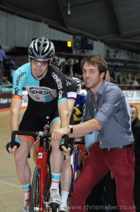 Alex Dowsett carries out starting duties in-between TV Presenter duties. - ©ChrisMaher.co.uk