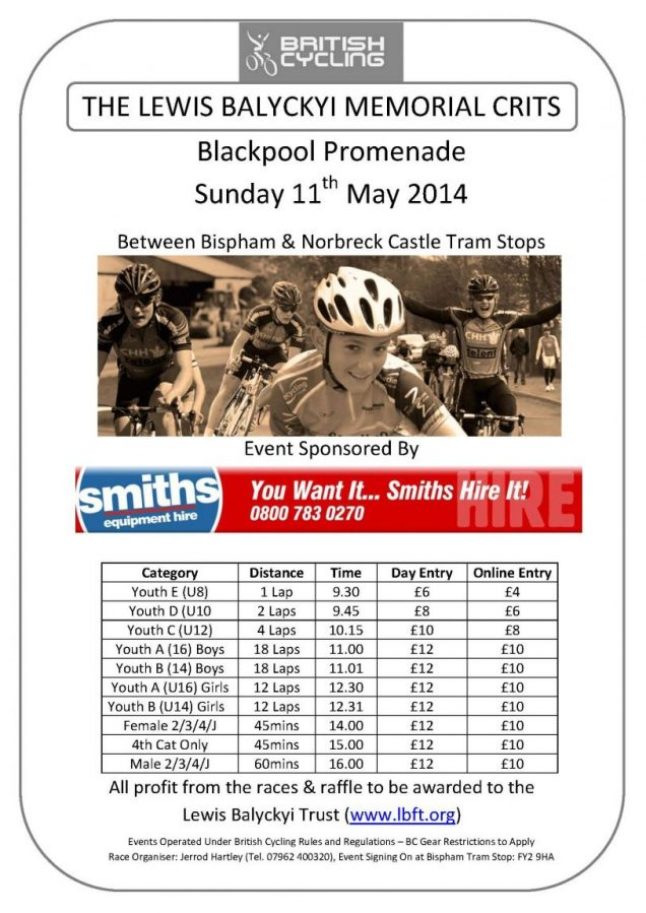 Blackpool Crits Flyer 2014