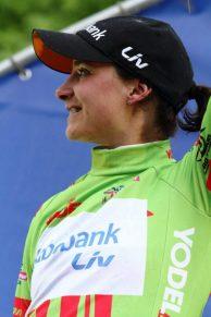Marianne Vos (Green Jersey Podium)
