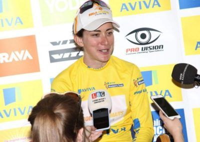 Interview – Christine Majerus – Yellow Jersey – Stage 1 – Womens Tour 2016