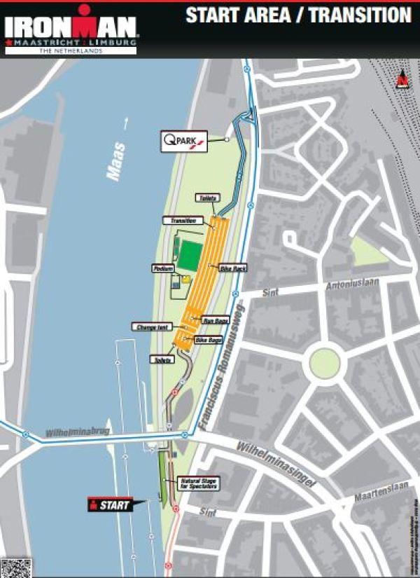 Transition area - Maastricht Ironman, Netherlands