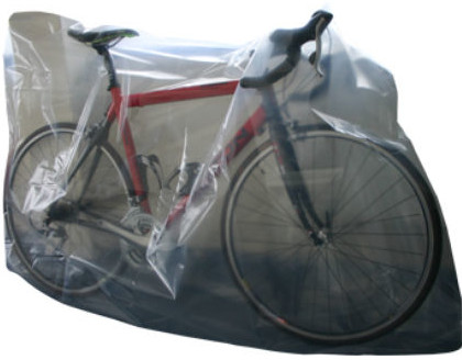 CTC bike bag. Cling film or black bags can work just aswell.