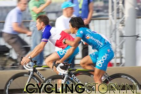 Frans kampioen Thomas Voeckler van Bbox Bouygues Telecom (foto: © Laurens Alblas / Cyclingstory.nl)