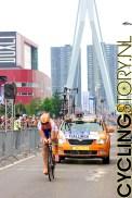 Eén van de eerste renners is Maarten Tjallingii van Rabobank (foto: © Laurens Alblas/Cyclingstory.nl)