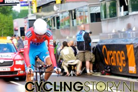 Luxemburgs kampioen tijdrijden Andy Schleck van Saxo Bank (foto: © Laurens Alblas/Cyclingstory.nl)