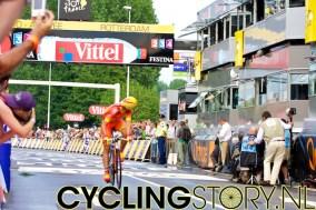 Spaans kampioen tijdrijden Luis-Leon Sanchez van Caisse d'Epargne (foto: © Laurens Alblas/Cyclingstory.nl)