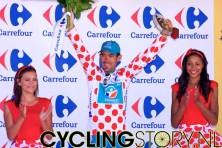 En ondertussen is Charteau al weer even de nieuwe leider van het bergklassement (foto: © Laurens Alblas/Cyclingstory.nl)