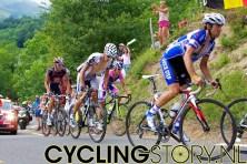 Helemaal achterin de kopgroep zat Lance Armstrong, die uiteindelijk te kort zou komen in de eindsprint (foto: © Laurens Alblas/Cyclingstory.nl)