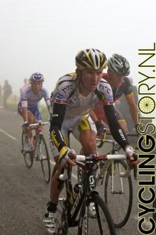 Lance Armstrong (rechts) beklom, evenals Moerenhout, zijn laatste berg in de Tour de France (foto: © Laurens Alblas/Cyclingstory.nl)