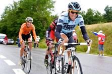 De verrassing van vandaag: Alberto Contador, Cadel Evans en Samuel Sanchez. (© 2011 Laurens Alblas / Cyclingstory.nl)