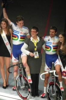 Winnaars van het eerste onderdeel Gijs van Hoecke en Kenny de Ketele. (foto: © Tim van Hengel/cyclingstory.nl)