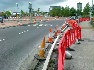 Widening pedestrian & cycle lane 3