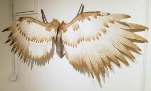 Archangel Gabriel Wings Aluminum Felt Sculpture by Adam Nahas from Cyclops Studios
