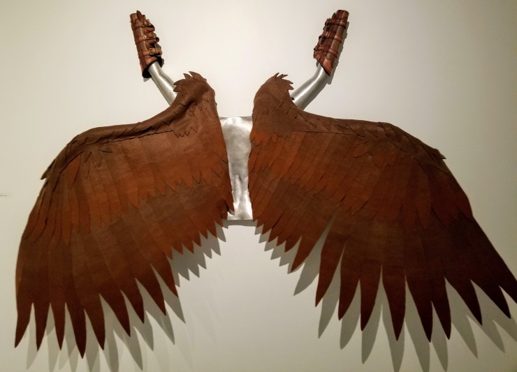 Icarus Wings - An Aluminum & Felt Sculpture by Adam Nahas from Cyclops Studios