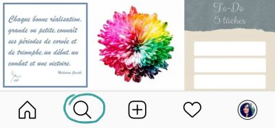 Comment lancer une recherche de posts Instagram