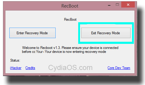 Recboot : iPhone 4S Stuck in Recovery Mode