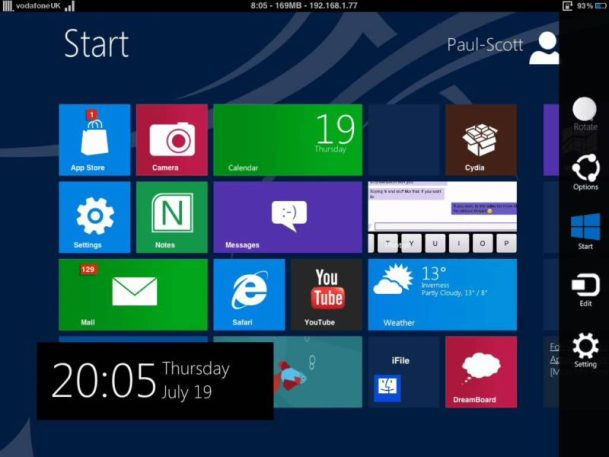 WINPAD8 iPad theme