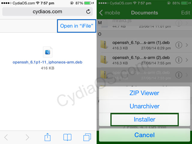 Install OpenSSH on iPhone without Cydia
