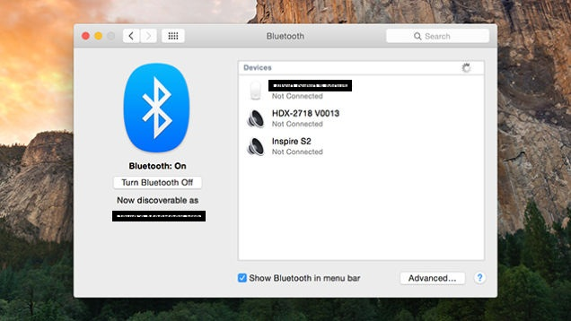 Start Bluetooth on OS X Yosemite