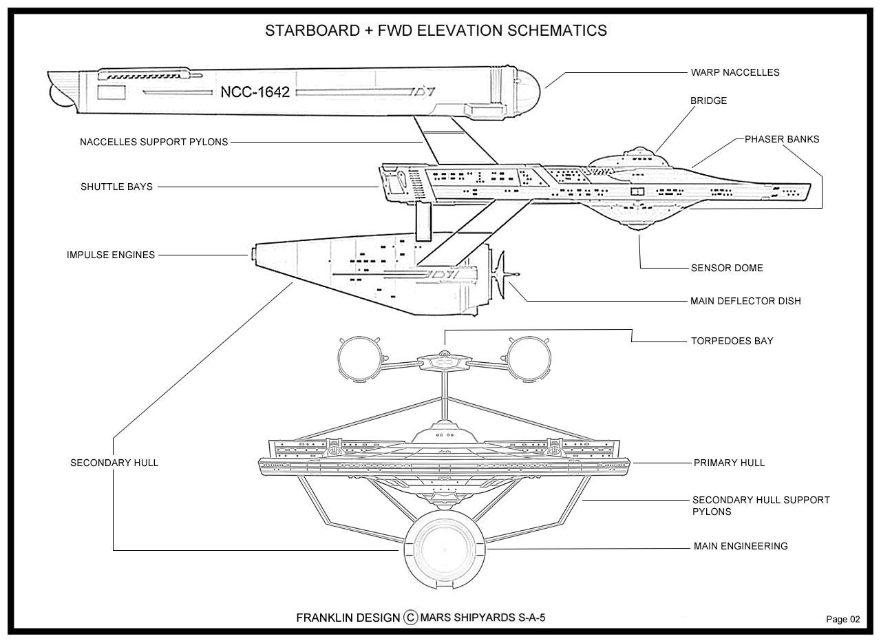 Star Trek Blueprints Franklin Class Cruiser