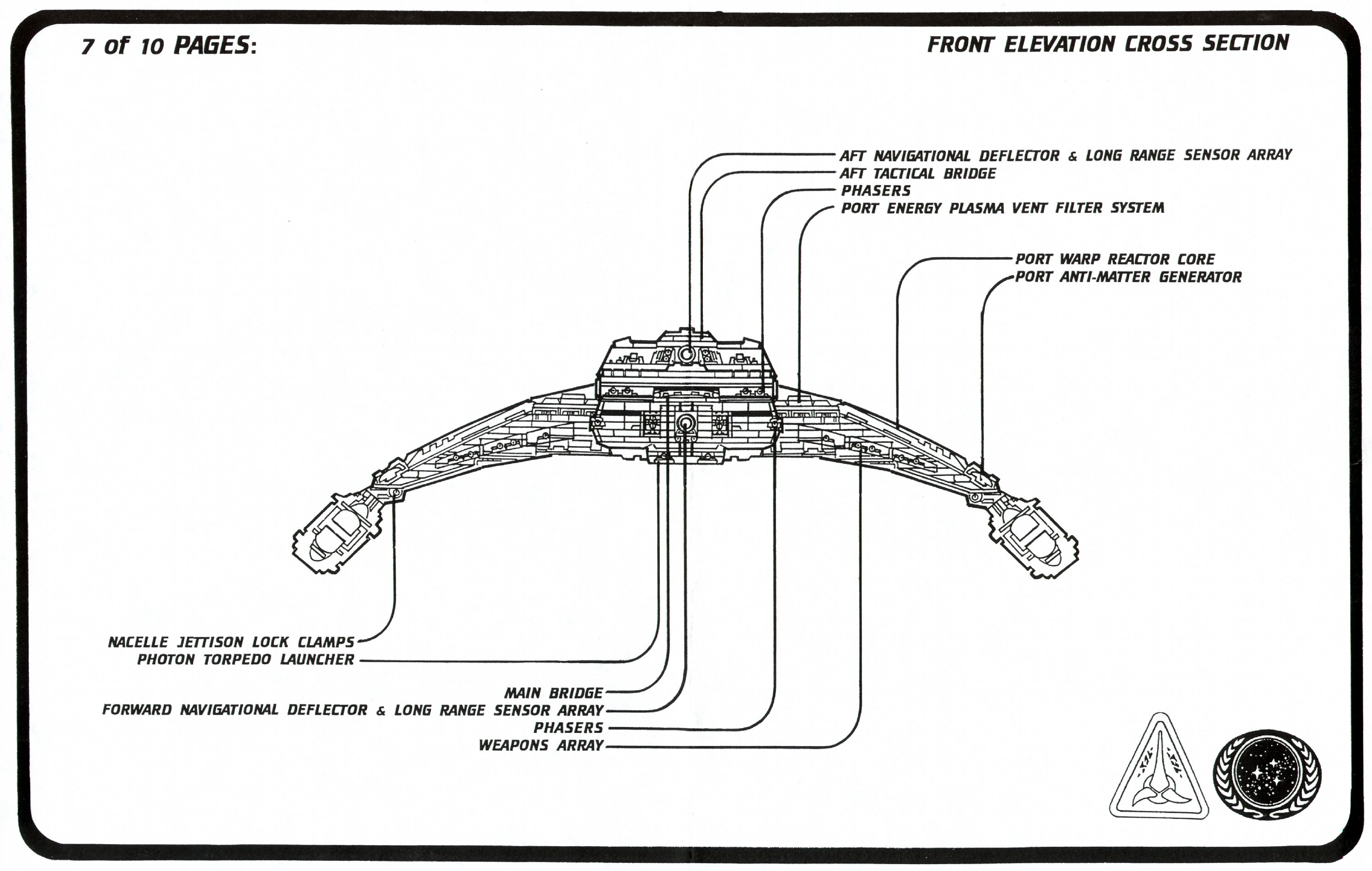 Star Trek Blueprints Klingon Vor Cha Cruiser