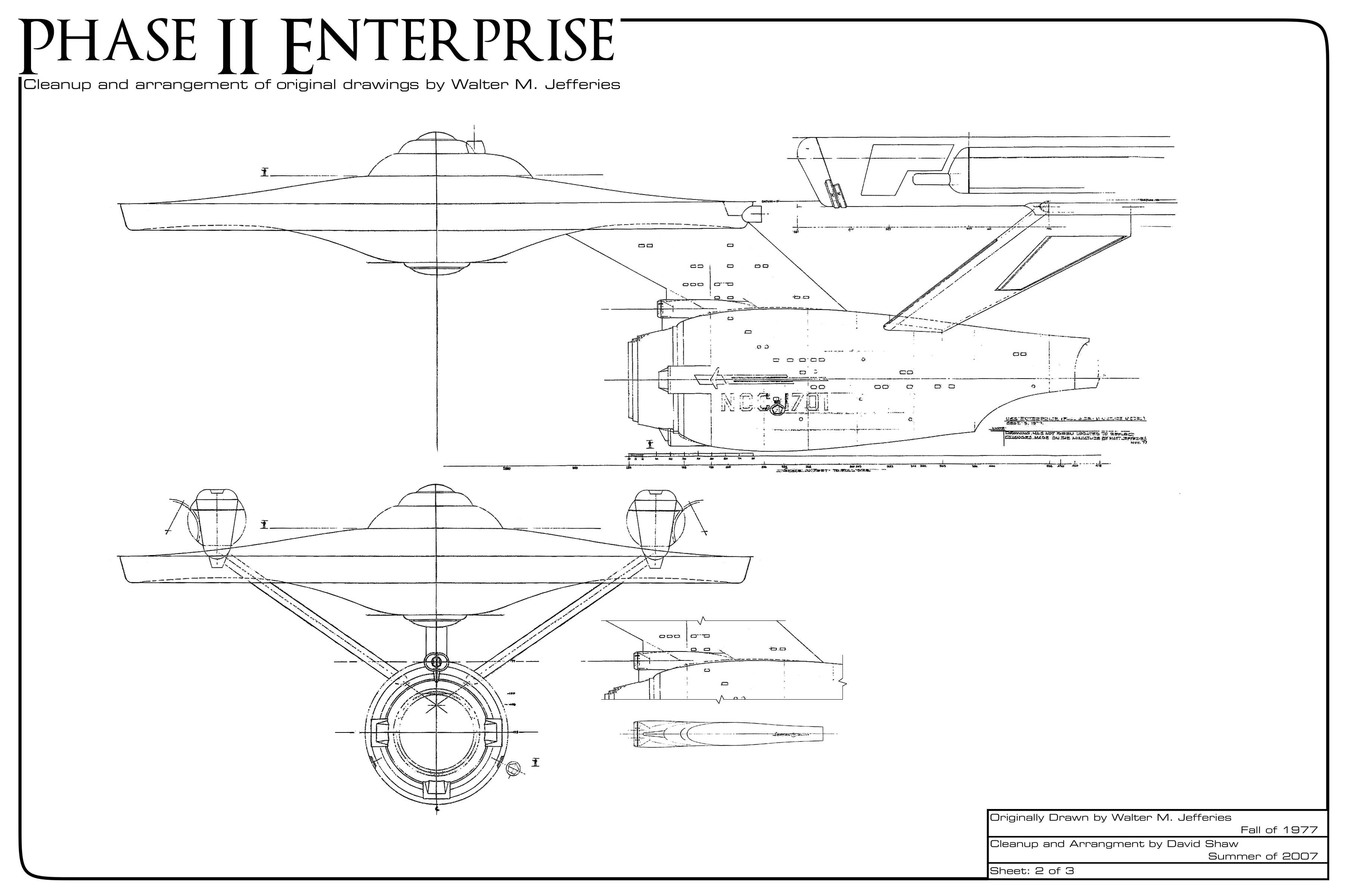 Star Trek Blueprints Phase Ii Enterprise Clean Up Project