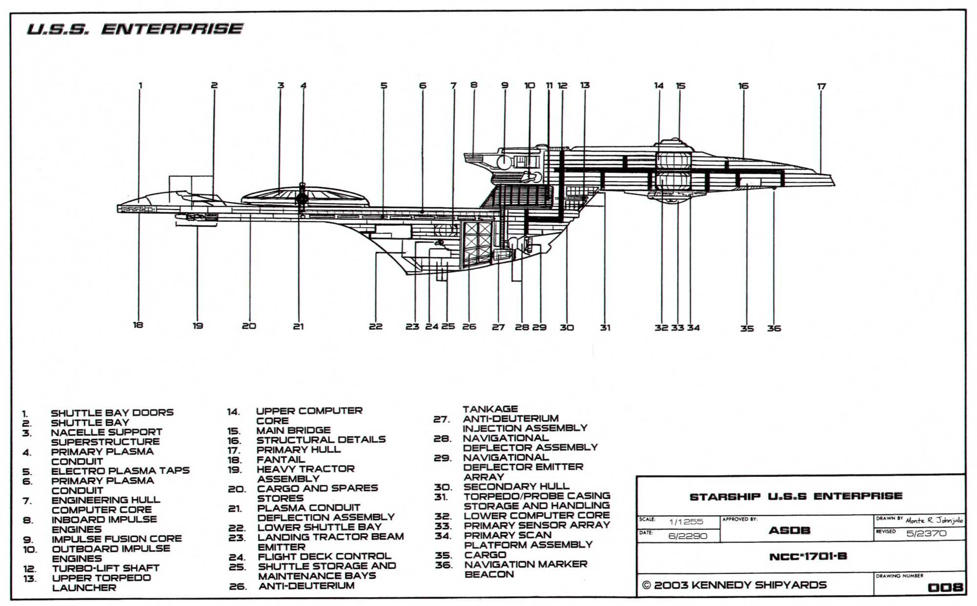 Excelsior Class Enterprise B Deckplans Blueprints