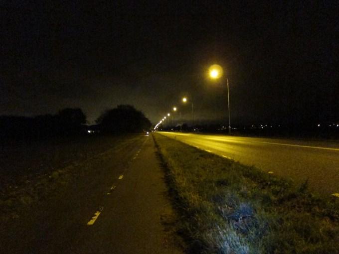 Nattcykling landsväg