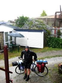 Regnväder cykling