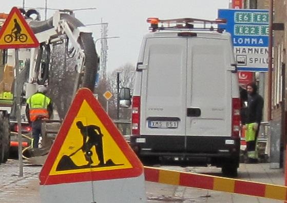 Vägarbete Lundavägen, Malmö