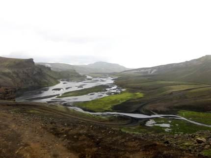 Island, regn och blött.