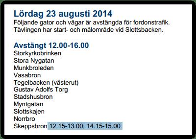 Tritatholonavspärrnignar augusti 2014