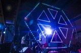 CymaSpace' Modular Cymatic Triangles with Audiolux Devices sound-reactive LED technology on display at 2015 PDX Pop Now!