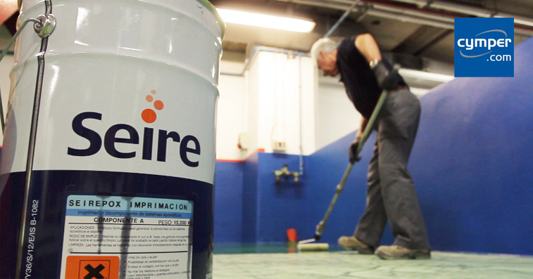 Adecuación del pavimento de un taller mecánico con Seirepox Multicapa