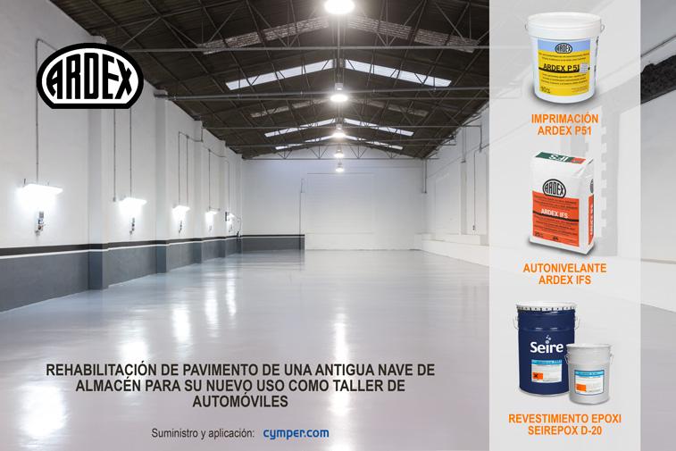 Renovación de pavimentos industriales con autonivelante ARDEX IFS 05