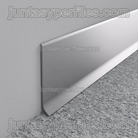 Rodapié aluminio anodizado en barras modelo ECO