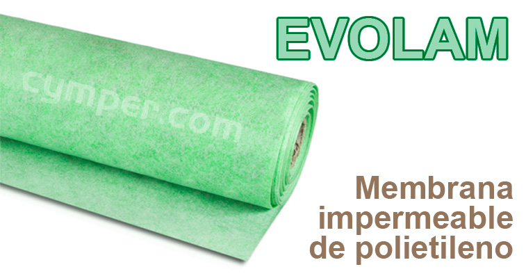 EVOLAM . Lámina impermeable de polietileno para suelo y pared de azulejos