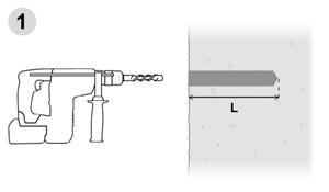 Anclajes químicos para equipamiento de vías de escalada - Paso 1
