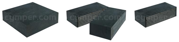 Detalle sección de apoyos de elastoméricos o apoyos de neopreno