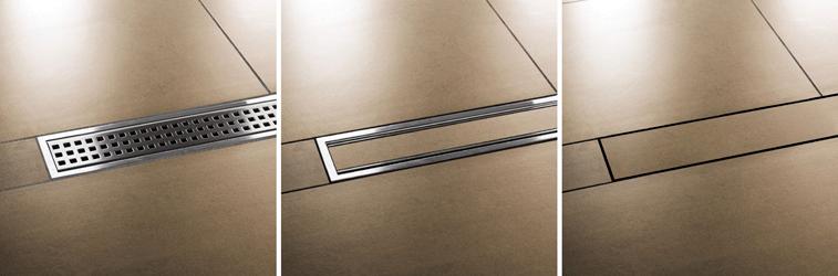 Plato de ducha de obra con drenaje lineal