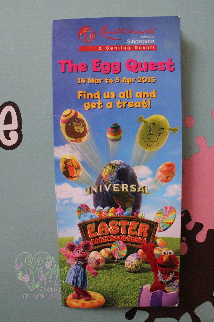 universal studios singapore the egg quest map cover