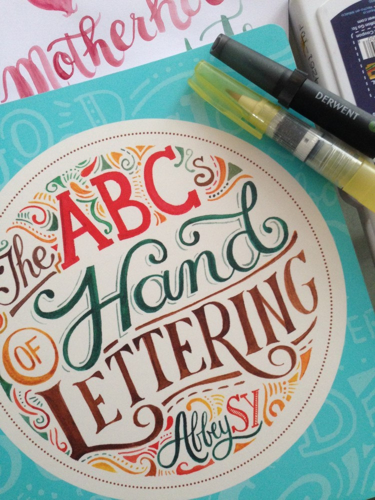 the abcs of hand lettering by abbey sy