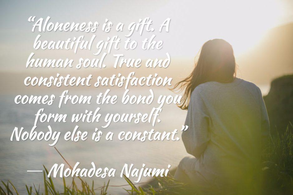 value in aloneness