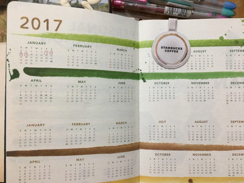 Make The Starbucks Planner My Own menstrual tracker