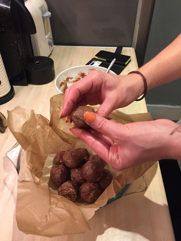 Homemade Cacao Protein Balls