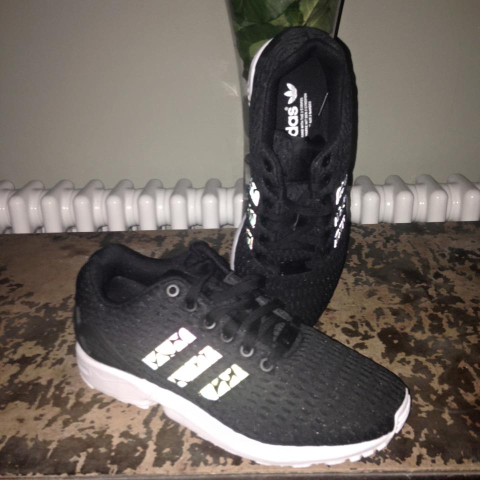 bc4e9cf9e0050 There new ZX Flux range looks completely black to the naked eye – but once  you shine a flash on it – the lines reflect right back at you!